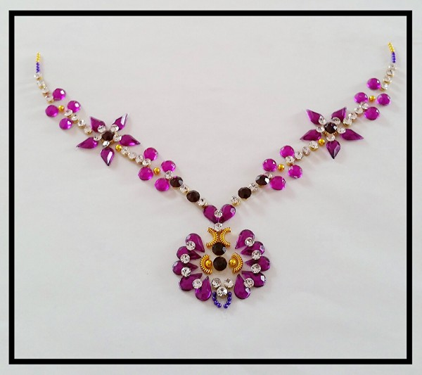 Crystal Strass Tattoo Halsschmuck Necklace violet